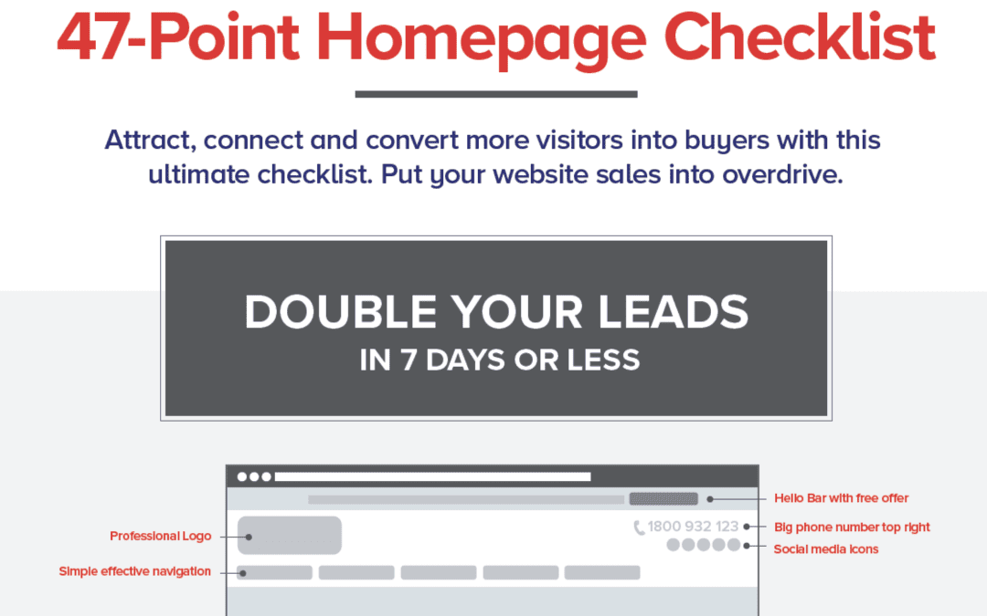 47-Point Homepage Checklist:
