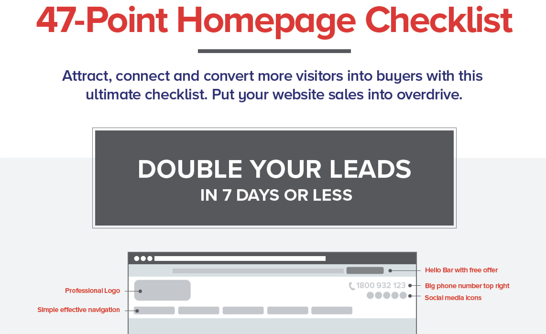 Free 47-Point Homepage Checklist!
