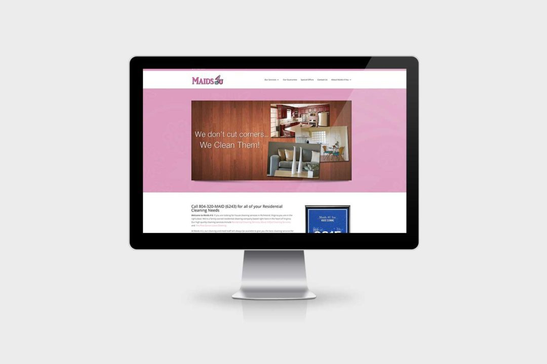Maids 4 You Website Design