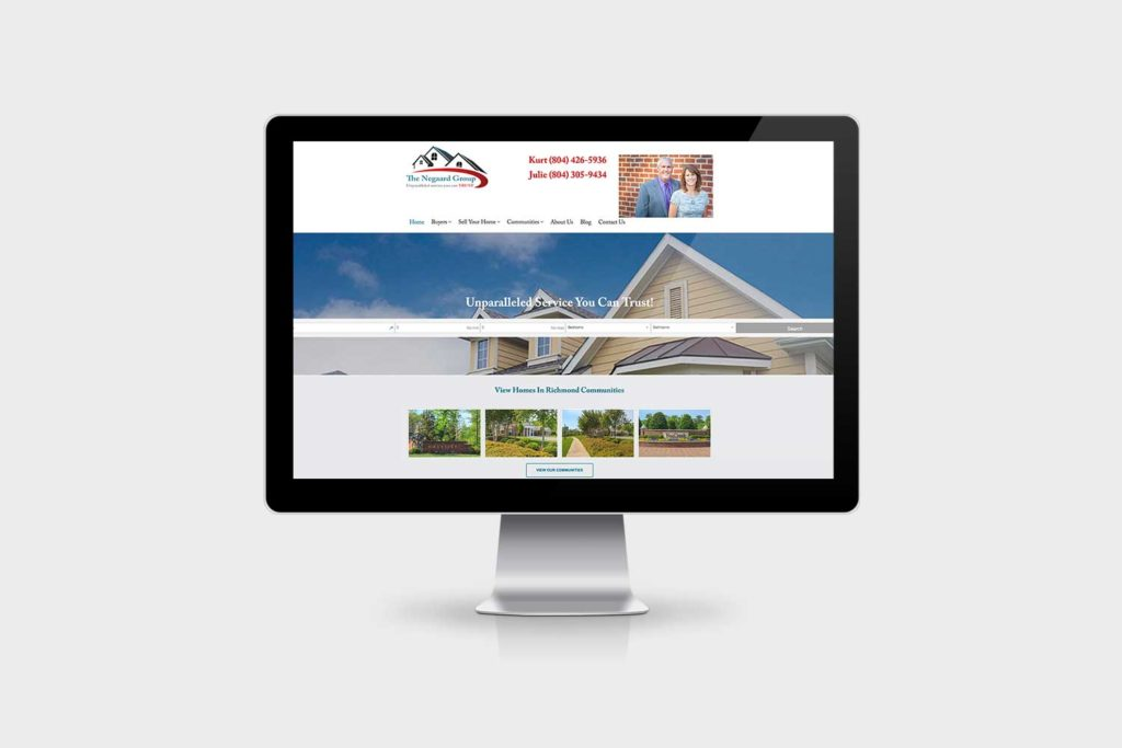 The Negaard Group website