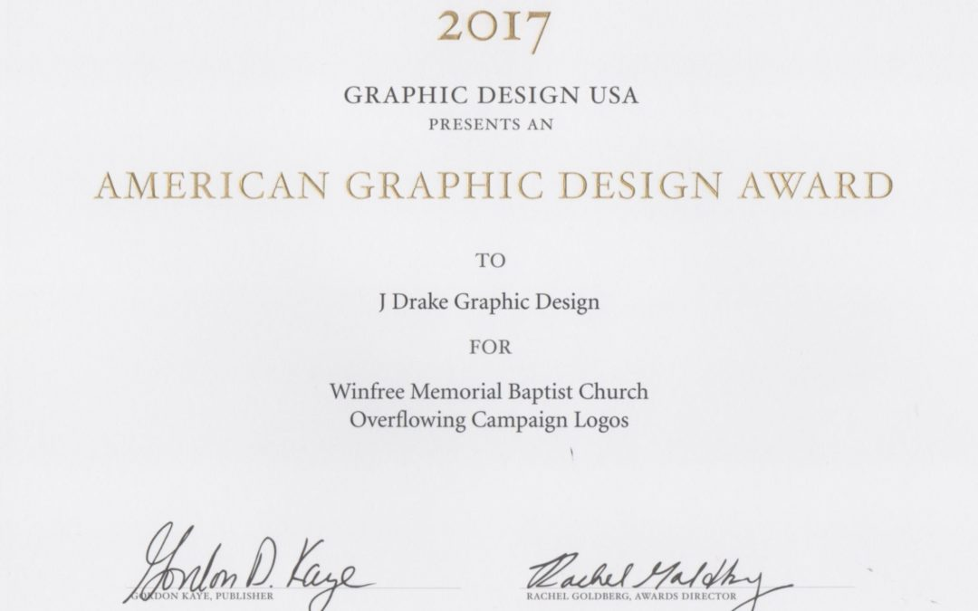 Graphic Design USA Award Winner 2017
