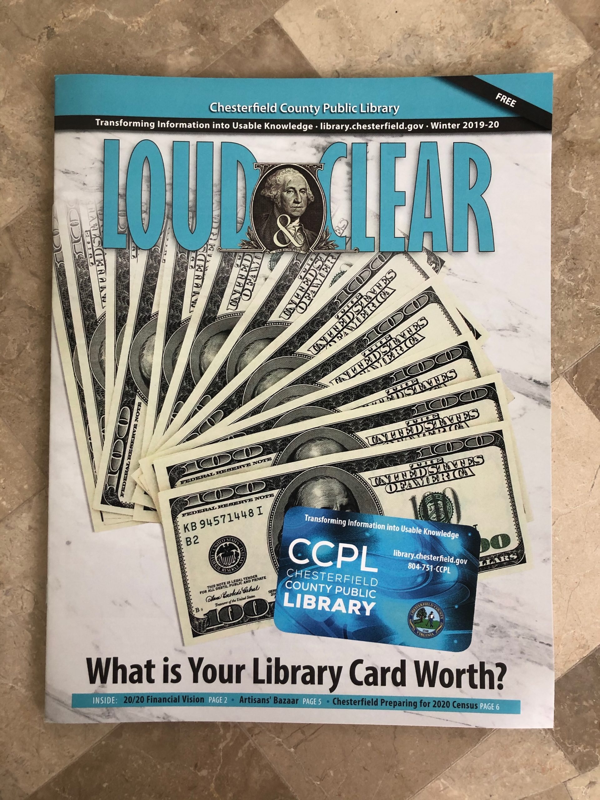 Chesterfield County Public Library Loud & Clear winter magazine