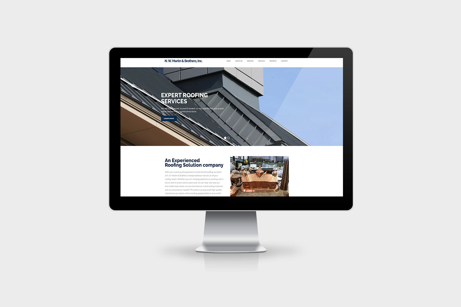 N. W. Martin & Brothers website design